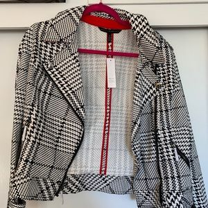 New WHITE HOUSE BLACK MARKET WHBM plaid jacket 12